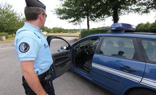Illustration d'un contrôle de gendarmerie ici entre Rennes et Nantes.
