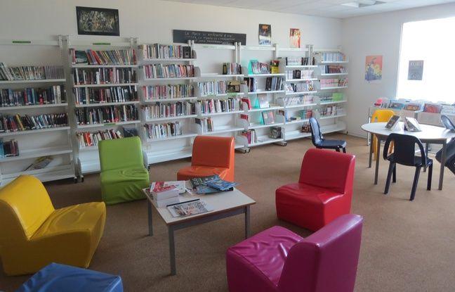 La bibliothèque de la prison pour mineurs d'Orvault