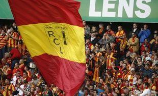 Les supporters du racing Club de Lens au stade Bollaert-Delelis.