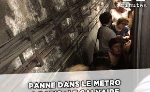 Les passagers de la ligne 1 ont vécu des moments difficiles en pleine canicules.