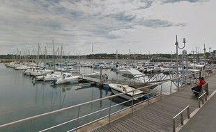 Le port de plaisance de Perros-Guirec où le corps d'un homme a été repêché ce jeudi matin.