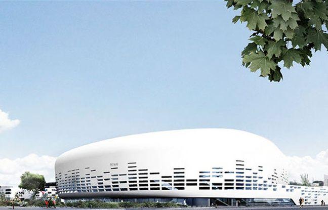 Image de synthèse de la future arena de Bordeaux Metropole - SENSO Agence Rudy Ricciotti