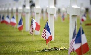 Le cimetière militaire américain de Colleville-sur-mer, samedi 6 juin 2009, à l'occasion du 65e anniversaire du débarquement des Alliés en Normandie.