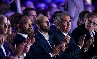 Le Premier ministre Edouard Philippe, le patron de LREM Stanislas Guerini et celui du MoDem François Bayrou étaient à l'université de rentrée du parti présidentiel.