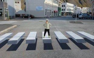 Capture d'écran du passage piéton en 3D en Islande.