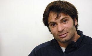 Christophe Dominici en 2007 lors d'un point presse à Marcoussis.