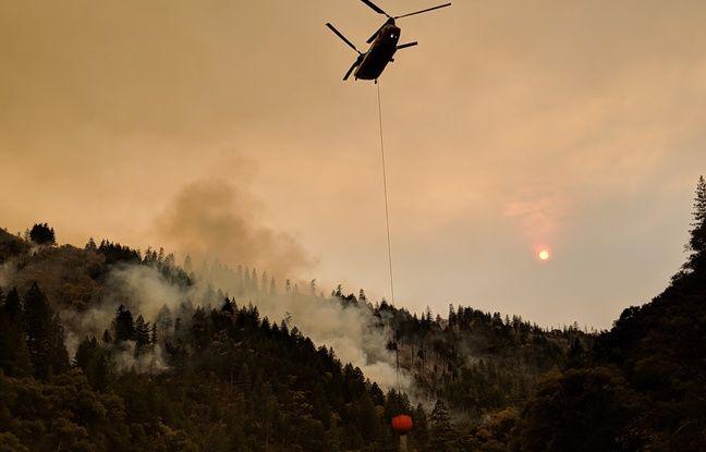 Le Camp fire au nord de Paradise, en Californie le 14 novembre 2018.