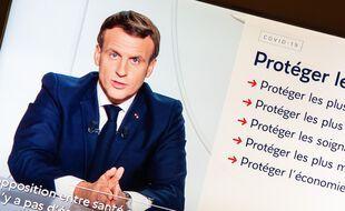 Emmanuel Macron lors de son allocution télévisée du 28 octobre. (archives)