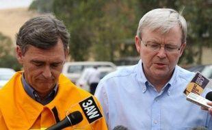 """Soixante-cinq personnes ont péri dans les incendies de forêt qui ravagent le sud-est de l'Australie, un désastre national qualifié dimanche """"d'enfer dans toute sa fureur"""" par le Premier ministre Kevin Rudd."""