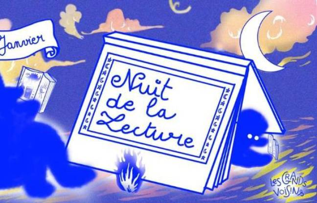 Illustration onirique pour la nuit de la lecture des Grands Voisins