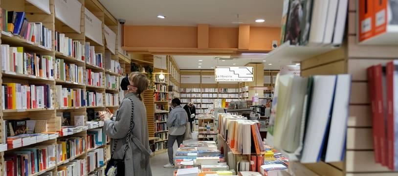 Une librairie à l'heure du coronavirus, le 11 mai 2020. Illustration