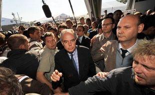 Le ministre de la Culture Frédéric Mitterrand à la Fête de l'Humanité le 12 septembre 2009.
