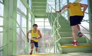 Les courses d'escaliers sont devenues des épreuves à part entière, avec un entraînement spécifique.