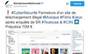 Zone téléchargement fermé par la gendarmerie nationale