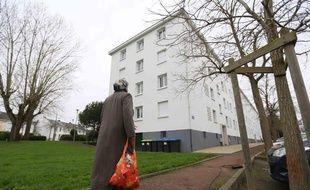 L'immeuble de Saint-Nazaire où une famille a vécu recluse pendant un à trois ans jusqu'au 5 janvier 2013.