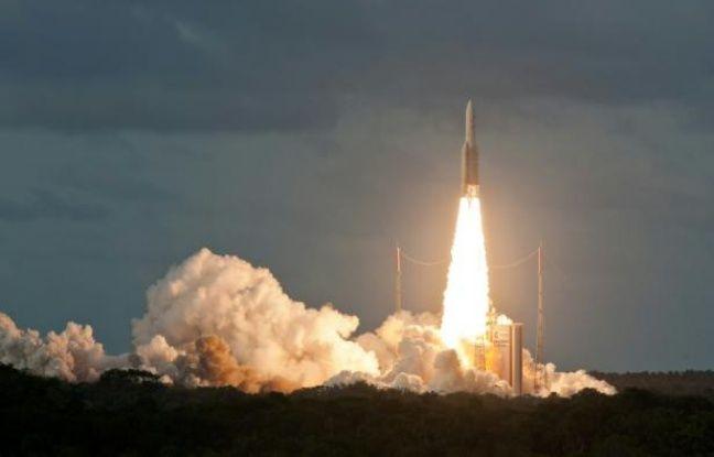 VIDEO. Espace: Après une éclipse, Ariane 5 redécolle de Kourou, suivez le lancement en direct dans actualitas dimanche 648x415_le-lanceur-europeen-ariane-5-le-6-decembre-2014-a-kourou