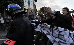 Une manifestation non autorisée contre les violences policières a eu lieu samedi 22 novembre 2014 à Toulouse.