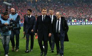Emmanuel Macron au Stade France, samedi, pendant la finale de la Coupe de France.