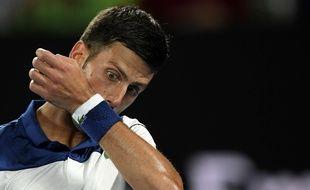 Novak Djokovic a été éliminé par Chung Kyeon en 8e de finale de l'Open d'Australie, le 22 janvier 2018.