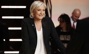 Marine Le Pen, lors du 1er débat de la présidentielle, mardi 21 mars.