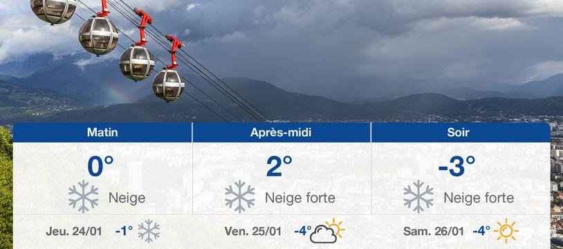 Météo Grenoble: Prévisions du mercredi 23 janvier 2019