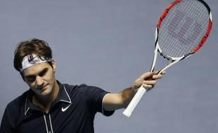Le tennisman suisse, Roger Federer, lors de sa victoire face à Fernando Verdasco, le 22 novembre 2009 au Masters de Londres.