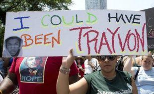 Une manifestation à la mémoire de Trayvon Martin, le 20 juillet 2013, à New York.