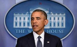 Le président américain Barack Obama à la Maison-Blanche à Washington, le 16 juillet 2014