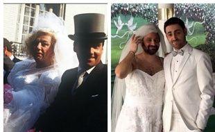 Les faux mariages de Coluche et Le Luron, en 1985, et Hanouna et Combal, en 2016.