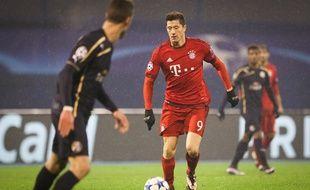 Robert Lewandowski lors du match Bayern Munich - Dinamo Zagreb en Ligue des champions, le 9 décembre 2015.