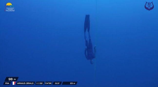 VIDEO. Il descend à 101 mètres sous l'eau en apnée