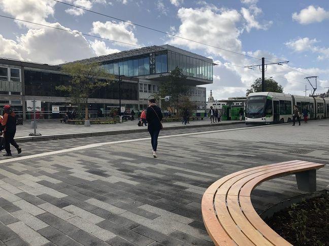 Le parvis de la gare de Nantes, en octobre 2019