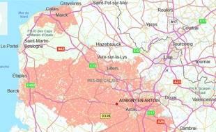 La commune d'Aubigny-en-Artois.