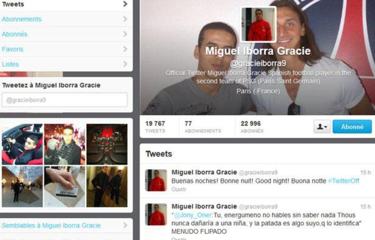 Le compte Twitter de Miguel Iborra Gracie. – 20Minutes