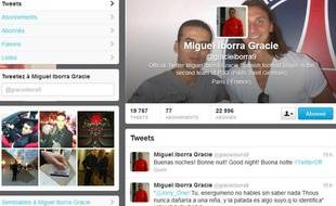 Le compte Twitter de Miguel Iborra Gracie.