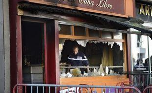 Le bar Cuba Libre après l'incendie