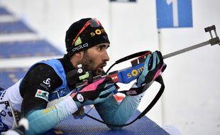 Martin Fourcade lors du relais d'Ostersund.