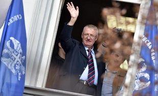 L'ultranationaliste serbe Vojislav Seselj de retour à Belgrade, le 12 novembre 2014