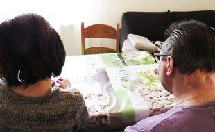 Fabien, victime d'une agression en 2015et laissé pour mort, en compagnie de sa femme.