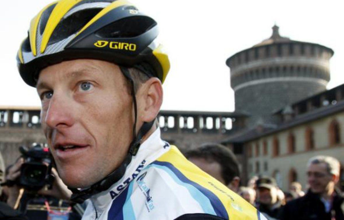 Le cycliste américain Lance Armstrong, au départ de Milan San Remo, le 21 mars 2009. – A.Garofalo/REUTERS
