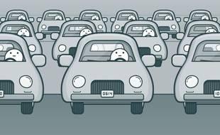 L'application Waze va signaler les péages sur les routes américaines et canadiennes (illustration).