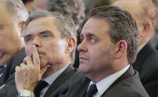 Bernard Accoyer et Xavier Bertrand le 29 mars 2010 à Paris.