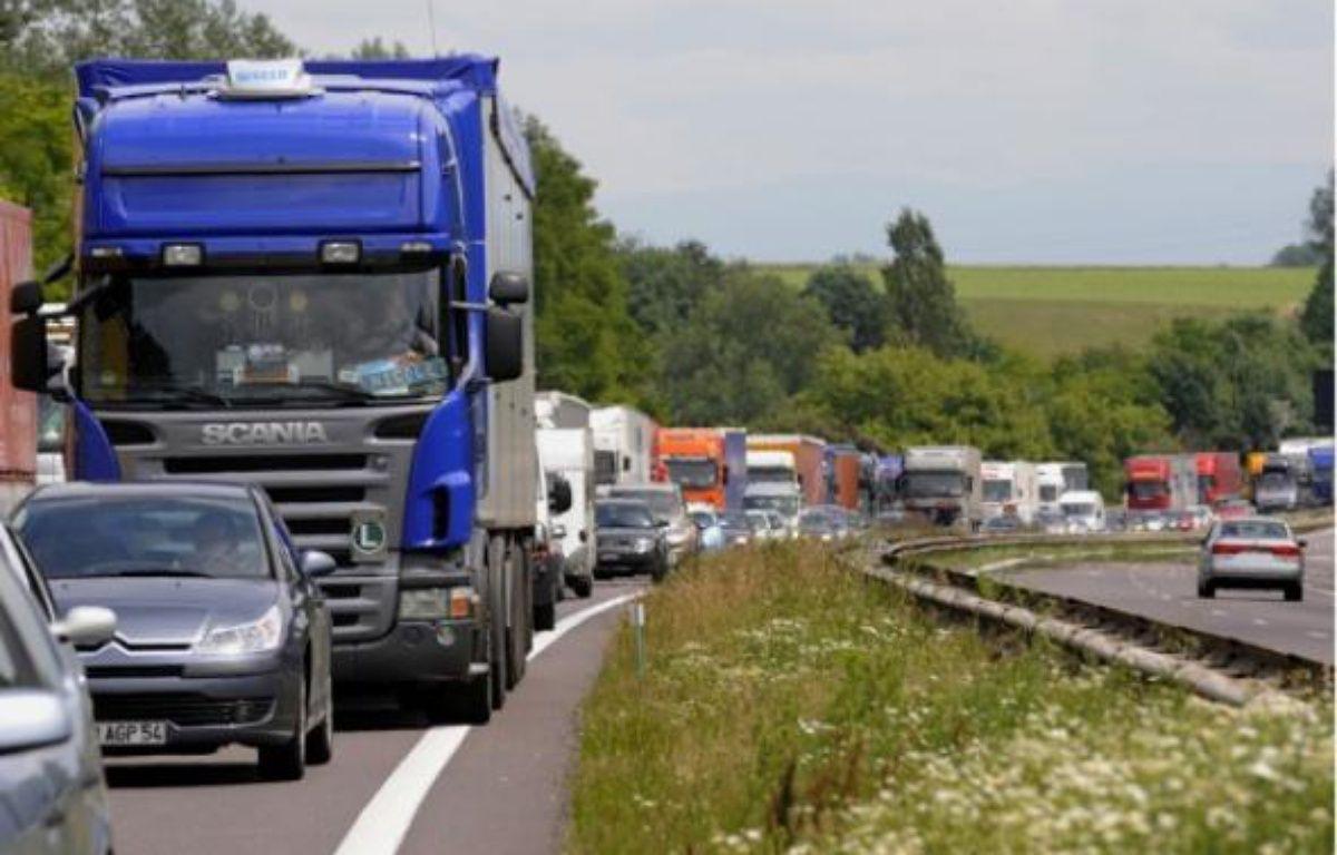 Le transport routier de marchandises est en difficulté  –  G . VARELA / 20 MINUTES