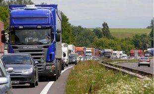Le transport routier de marchandises est en difficulté