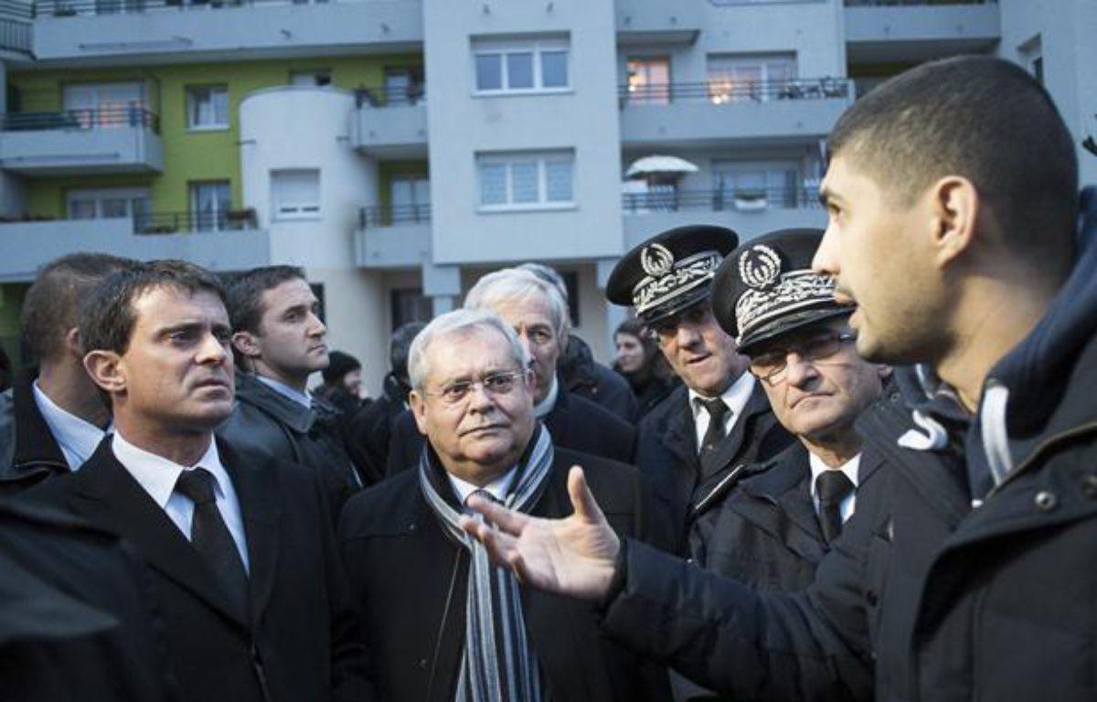 Manuel Valls, le 6 janvier 2014, en déplacement en Seine-Saint-Denis. – Alexandre Gelebart / 20 Minutes