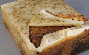 Le cake aux fruits aurait été amené en Antarctique lors d'une expédition au début du XXe siècle