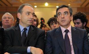 Jean Francois Copé and François Fillon, lors d'une réunion de l'UMP, le 26 mai 2012