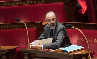 Le Premier ministre français Edouard Philippe lors de la session hebdomadaire de questions au gouvernement à l'Assemblée nationale.
