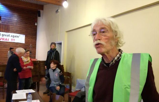 Michel Dupont, ancien assistant parlementaire de José Bové, fait partie des grévistes de la faim à avoir jeûné 30 jours contre l'autoroute du GCO à Strasbourg.