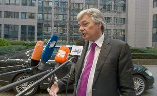 Le ministre belge des Affaires étrangère Didier Reynders à Bruxelles, le 16 novembre 2015
